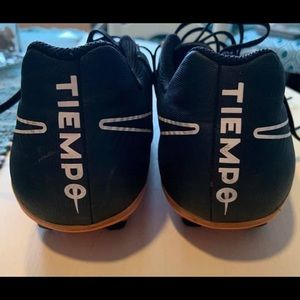 Leather Nike Tiempo soccer cleats